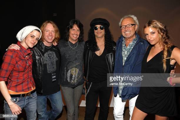 Samantha Ronson musician Jeff Pilson musician Kelly Hansen musician Slash musician Mick Jones and designer Charlotte Ronson attend Charlotte Ronson...