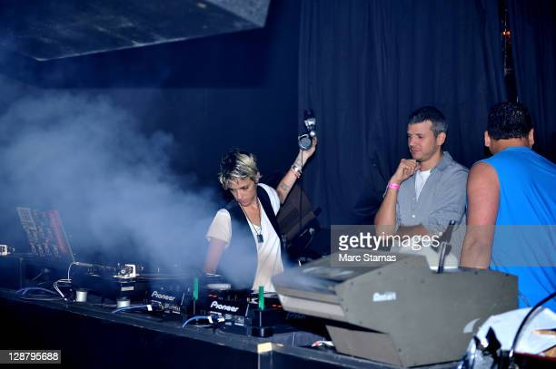 DJ Samantha Ronson performs at at Junior Vasquez's Birthday Party at District 36 on October 8 2011 in New York City