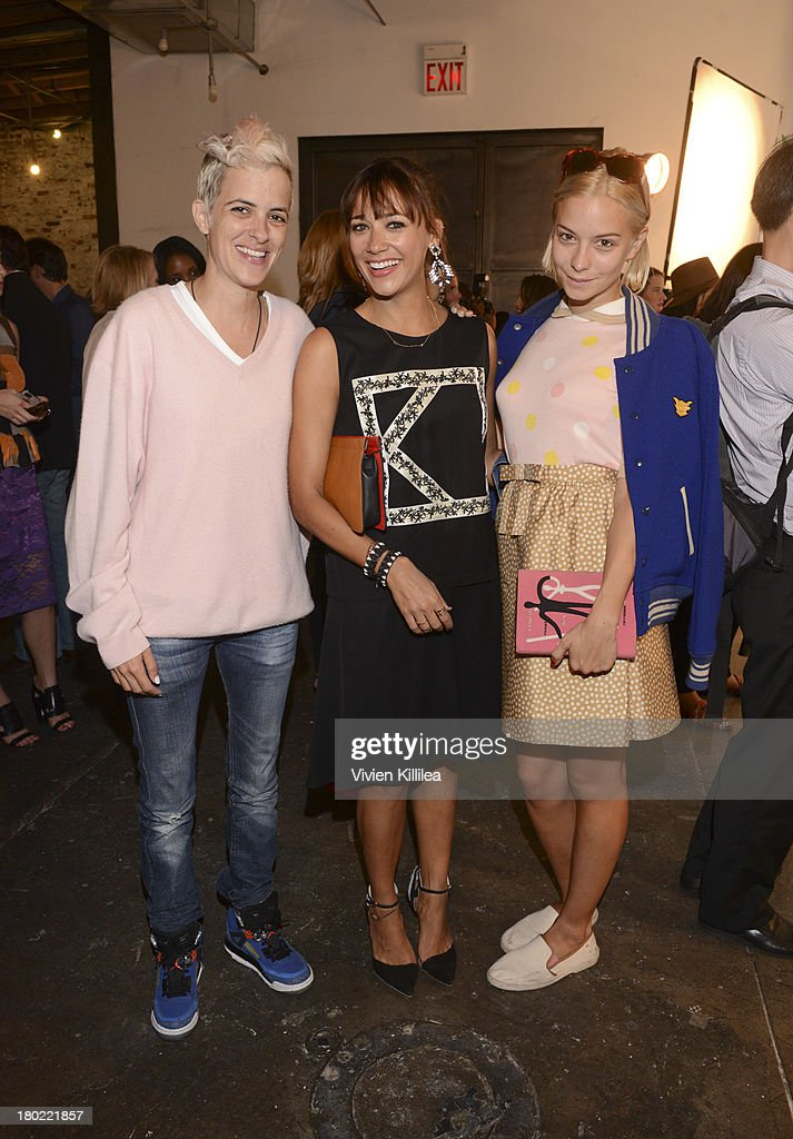 Samantha Ronson, Rashida Jones and Annabelle Dexter-Jones attend the Dannijo presentation during Mercedes-Benz Fashion Week Spring 2014 at Industria Studios on September 9, 2013 in New York City.