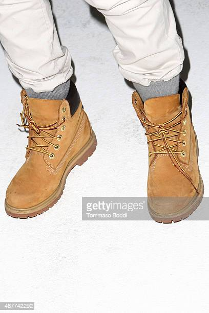 Samantha Ronson shoe detail attends the Timberland and American Rag present MarkMakers on March 26 2015 in Los Angeles California