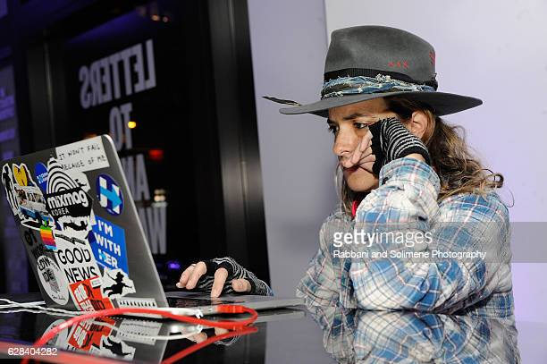 Samantha Ronson spins at the 2016 amfAR GenerationCure Holiday Party at Cadillac House on December 7 2016 in New York City