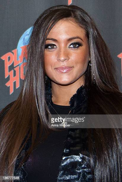 """Samantha """"Sammi Sweetheart"""" Giancola visits Planet Hollywood Times Square on January 11, 2012 in New York City."""