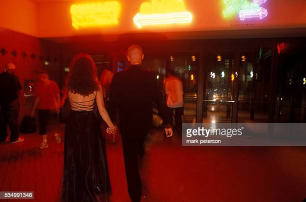 Samantha Sanson a student of Clay County High School and her date Dave Taylor head off to dinner after the prom Sanson received a dark purple prom...