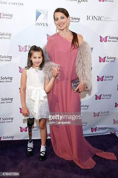 Samantha Scheller and Bonnie Young attend 2015 Solving Kids' Cancer Spring Celebration at 583 Park Avenue on June 8 2015 in New York City