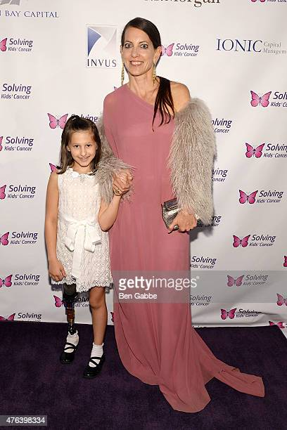 Samantha Scheller and childrens designer Bonnie Young attend the 6th Annual Solving Kids Cancer Spring Celebration at 583 Park Avenue on June 8 2015...