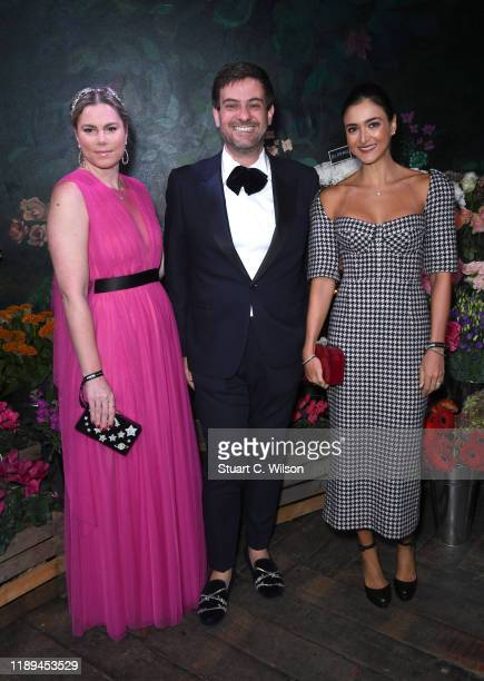 Samantha Simon Bruno Astuto and Renata Jafet Doria attend the gala dinner in honour of Edward Enninful winner of the Global VOICES Award 2019 during...