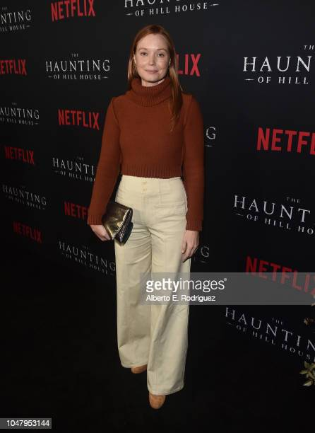 Samantha Sloyan attend the premiere of Neflix's 'The Haunting Of Hill House' at ArcLight Hollywood on October 8 2018 in Hollywood California