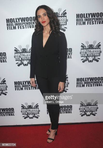 Samantha Smart attends the 17th Annual Hollywood Reel Independent Film Festival Award Ceremony Red Carpet Event held at Regal Cinemas LA LIVE Stadium...
