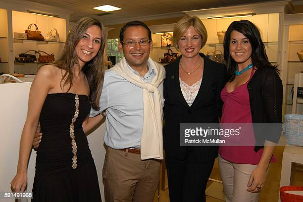 Samantha Smith Santiago Gonzalez Theresa Roberson and Erika Martinez attend New Handbag Line Nancy Gonzalez at Saks Fifth Ave on June 18 2005
