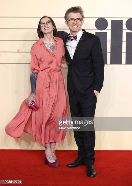 Samantha Stevenson and Gareth Malone attend the Military Wives UK Premiere at Cineworld Leicester Square on February 24 2020 in London England
