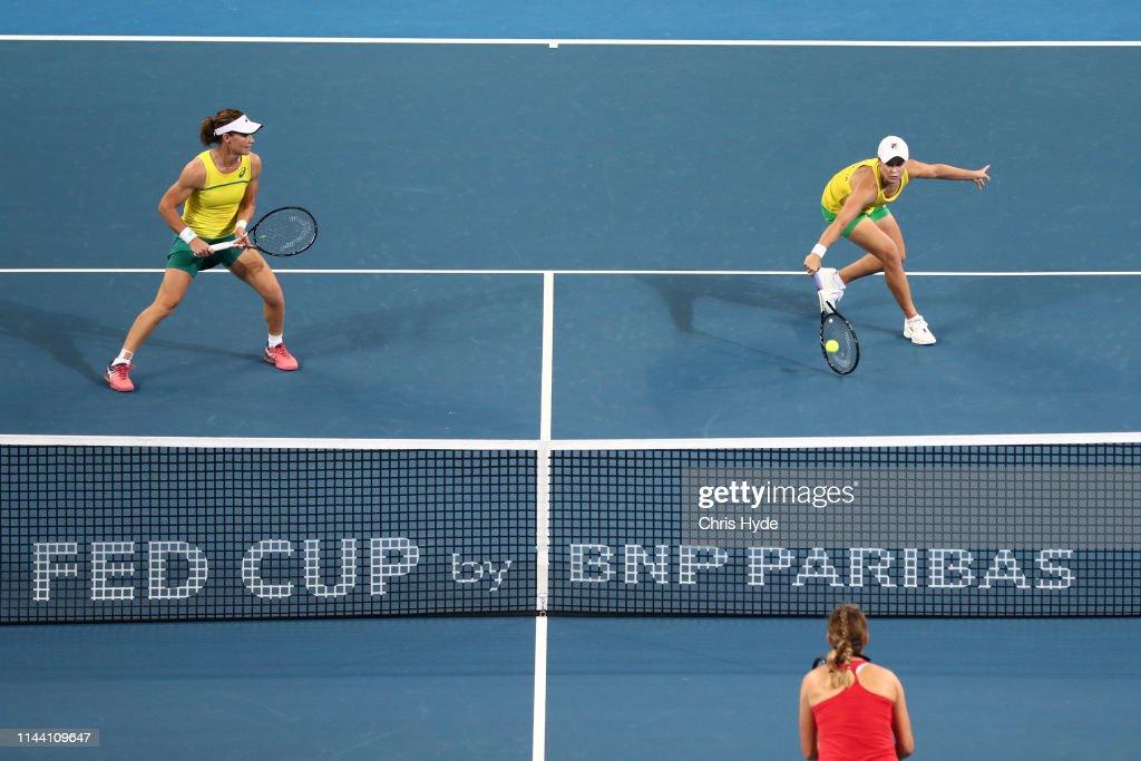 Fed Cup World Group Semi Final - Australia v Belarus : ニュース写真