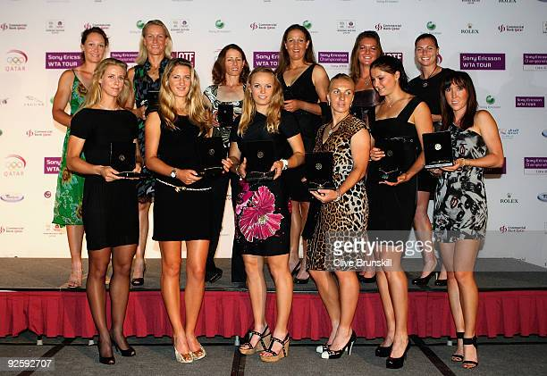 Samantha Stosur and Rennae Stubbs of Australia Cara Black of Zimbabwe Liezel Huber of USA Agnieszka Radwanska of Poland Vera Zvonareva of Russia...