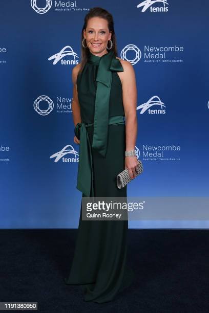 Samantha Stosur arrives for the 2019 Newcombe Medal at Crown Palladium on December 02 2019 in Melbourne Australia