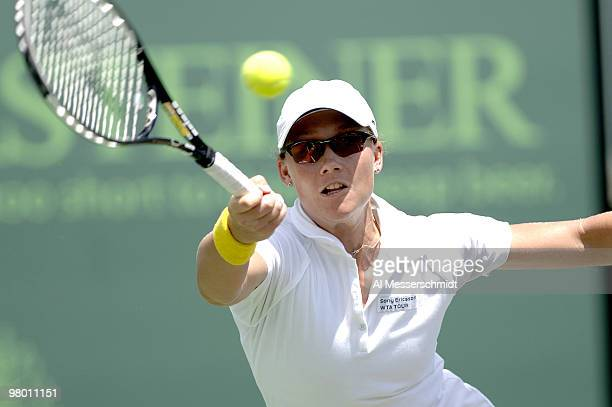 Samantha Stosur in women's doubles semifinal at the 2006 NASDAQ 100 Open at Key Biscayne Florida Lisa Ramond and Stosur defeated Amelie Mauresmo and...