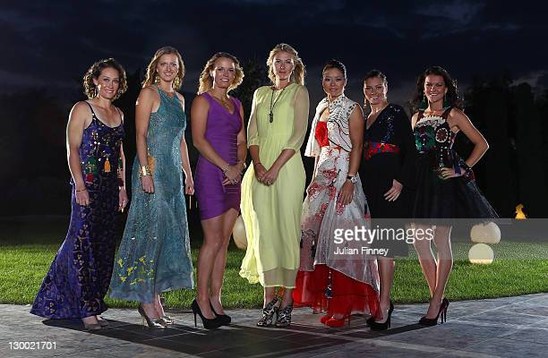 Samantha Stosur of Australia Petra Kvitova of Czech Republic Caroline Wozniacki of Denmark Maria Sharapova of Russia Li Na of China Vera Zvonareva of...