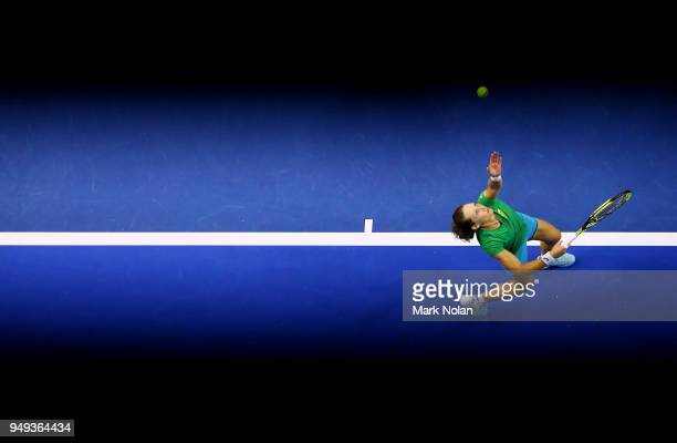 Samantha Stosur of Australia practices during a training session ahead of the World Group PlayOff Fed Cup tie between Australia and the Netherlands...