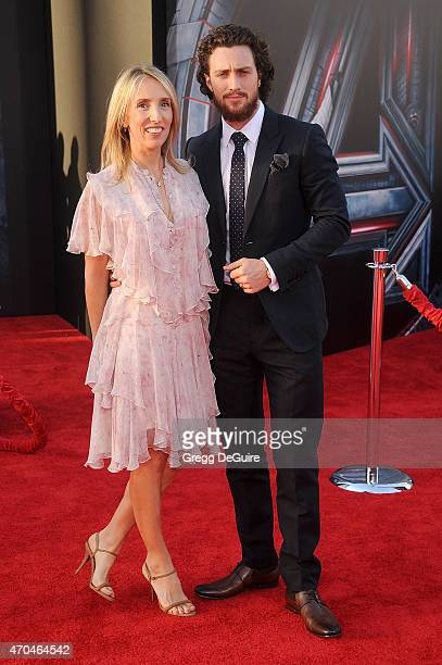 Samantha Taylor Johnson and Aaron TaylorJohnson arrive at the Los Angeles premiere of Marvel's 'Avengers Age Of Ultron' at Dolby Theatre on April 13...