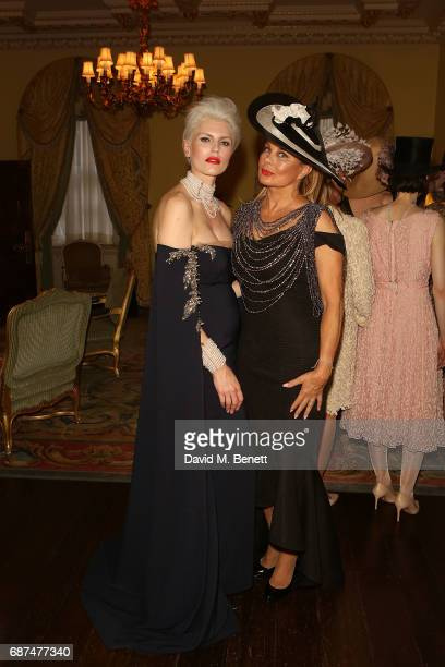 Samantha Tomlin and Jilly Johnson attend the Classic Models catwalk show at The Ritz on May 23 2017 in London England