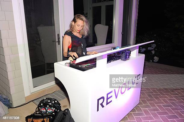 Samantha Urbani attends the REVOLVE Hamptons House Party sponsored by DeLeon Tequila on July 17 2015 in Sagaponack NY