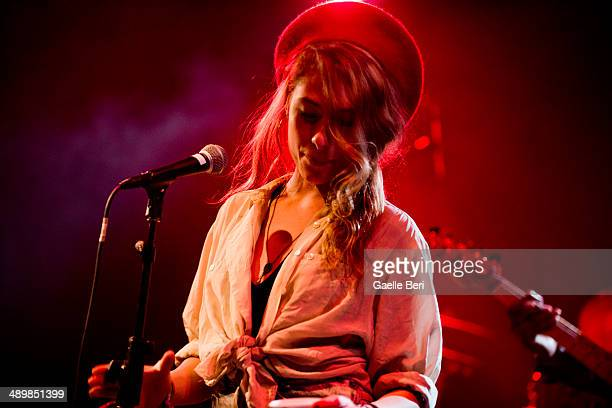 Samantha Urbani of Friends performs on stage with Blood Orange at El Rey Theatre on April 14 2014 in Los Angeles United States