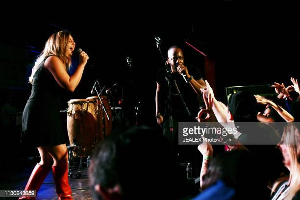 Samantha Uzbay and Wyclef Jean perform onstage at HEADS Music during the 2019 SXSW Conference and Festivals on March 14 2019 in Austin Texas