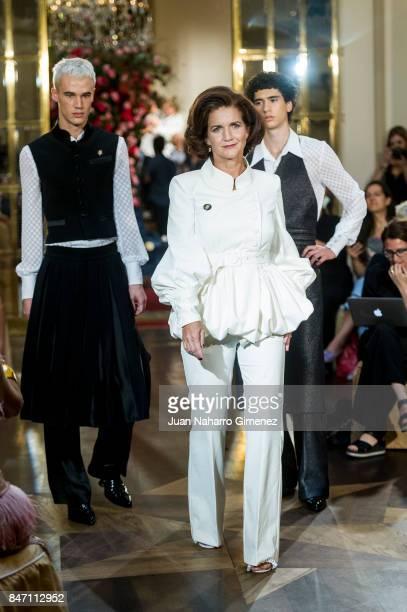 Samantha Vallejo Najera walks the runway at the Palomo Spain show during the MercedesBenz Fashion Week Madrid Spring/Summer 2018 on September 14 2017...