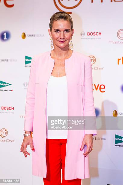 Samantha VallejoNagera attends 'Masterchef' Season 4 Presentation on March 31 2016 in Madrid Spain