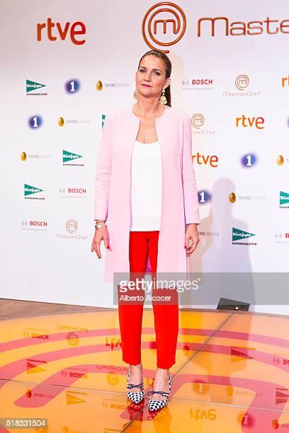 Samantha VallejoNagera attends 'Masterchef' Season 4 Presentation on March 31 2016 in Madrid Spain