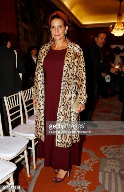 Samantha VallejoNagera attends the front row of Palomo Spain show during Mercedes Benz Fashion Week Madrid Autumn / Winter 2018 on January 28 2018 in...