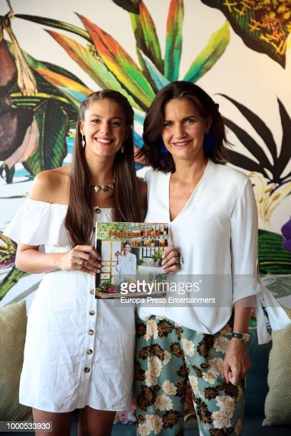Samantha VallejoNagera attend the presentation of the recipe book by Marta Verona the winner of TV MasterChef on July 17 2018 in Madrid Spain