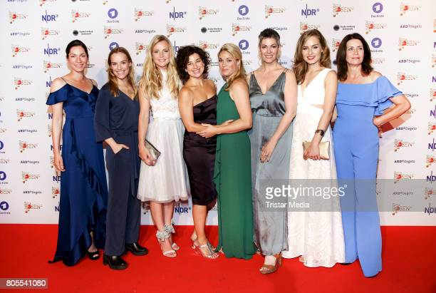 Samantha Viana Leonie landa Kim Sarah Brandts Isabel Varell Cheryl Shepard Hedi Honert and Patricia Schaefer attend the 'Rote Rosen' TV Show Gala To...
