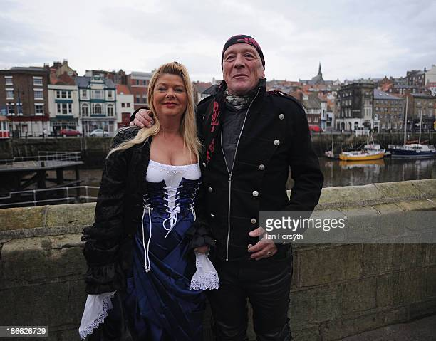 Samantha Wainwright who works as a cleaner and her husband Neil a joiner travelled from Derby to visit the Goth weekend on November 2 2013 in Whitby...