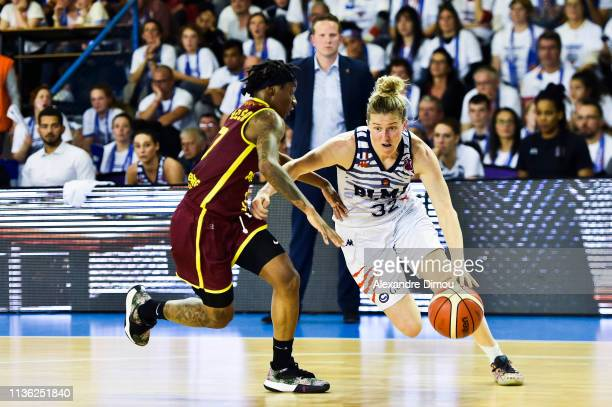 Samantha Whitcomb of Montpellier and Erica Wheeler of Orenburg during the Final Women EuroCup match between Montpellier Lattes and Nadezhda Orenburg...