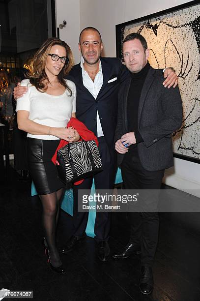 Samantha Wickins Simon Lyons and Mark Wogan attends the DofE Charity Reception at Opera Gallery on March 4 2014 in London England