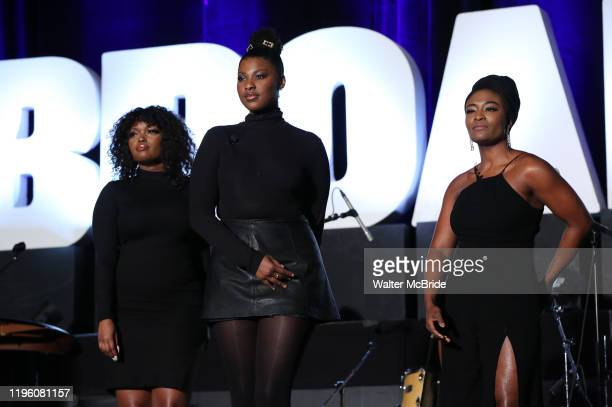 """Samantha Williams, Nasia Thomas and N'Kenge from """"Caroline or Change"""" during the BroadwayCon 2020 First Look at the New York Hilton Midtown Hotel on..."""