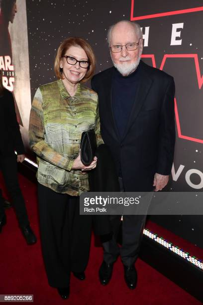 Samantha Winslow and Composer John Williams at Star Wars The Last Jedi Premiere at The Shrine Auditorium on December 9 2017 in Los Angeles California