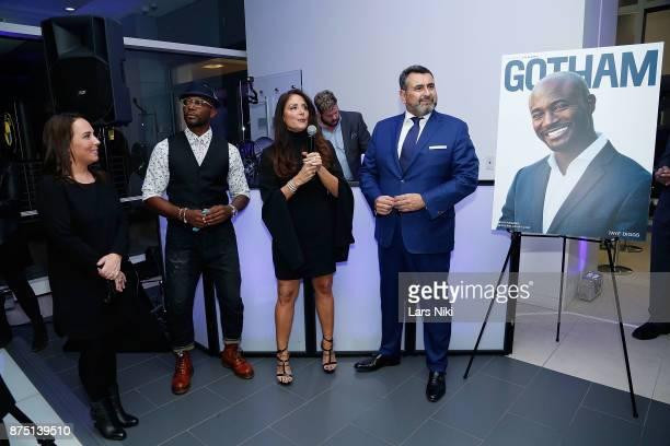 Samantha Yanks actor Taye Diggs Gotham Magazine publisher Lynn Scotti Kassar and Arturo Pineiro attend the Gotham Men's Issue Celebration at the BMW...
