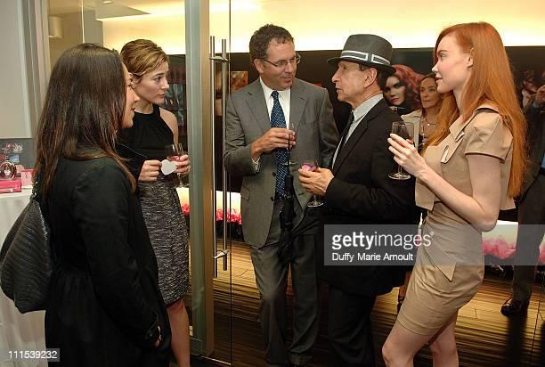 Samantha Yanks and AnneMarie Guarnieri of Gotham and Hamptons Stephen McEvoy of Niche Media Bebe Founder Manny Mashouf and Bebe model Jeri attend the...