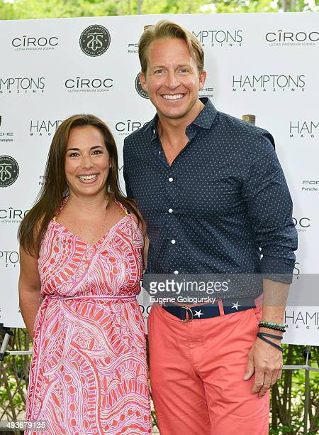 Samantha Yanks and Chris Wragge attend the Hamptons Magazine Celebration of Memorial Day Cover Star Heidi Klum on May 24 2014 in Southampton New York