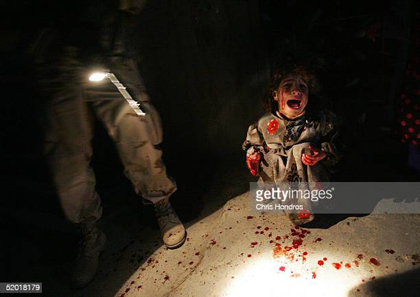 Samar Hassan screams after her parents were killed by U.S. Soldiers with the 25th Infantry Division in a shooting January 18, 2005 in Tal Afar, Iraq....