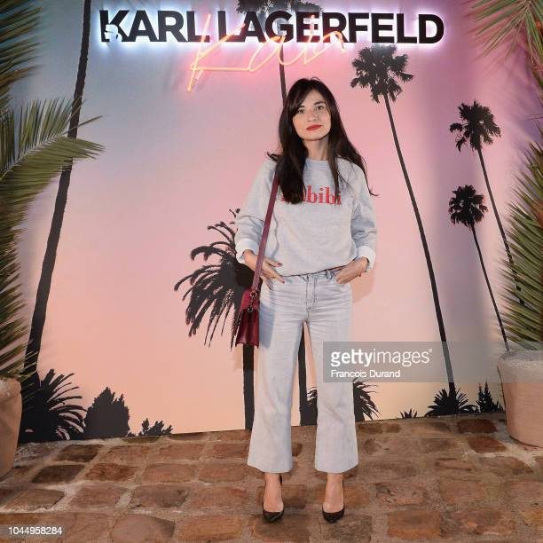 Samar Seraqui de Buttafoco celebrates the launch of the Karl x Kaia collaboration capsule collection on October 2 2018 in Paris France