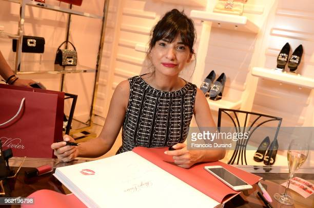 Samar Seraqui de Buttafuco attends Roger Vivier '#LoveVivier' Book Launch Cocktail on May 24 2018 in Paris France