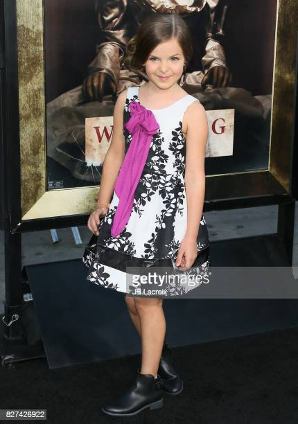 Samara Lee attends the premiere of New Line Cinema's 'Annabelle Creation' on August 07 2017 in Los Angeles California