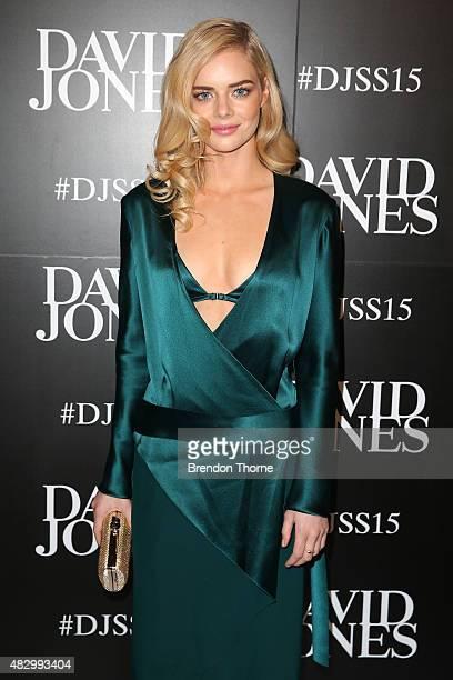 Samara Weaving arrives ahead of the David Jones Spring/Summer 2015 Fashion Launch at David Jones Elizabeth Street Store on August 5 2015 in Sydney...