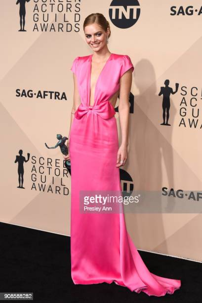 Samara Weaving attends 24th Annual Screen Actors Guild Awards Press Room on January 21 2018 in Los Angeles California