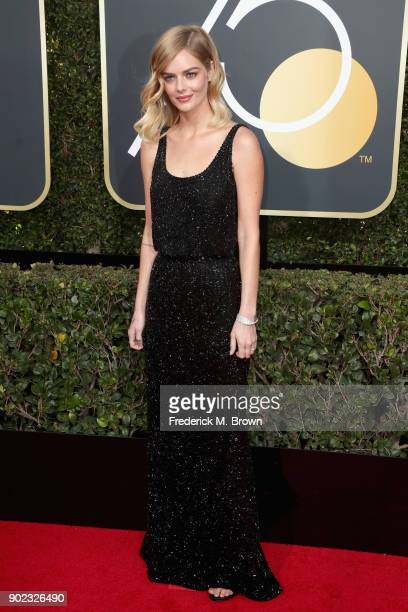 Samara Weaving attends The 75th Annual Golden Globe Awards at The Beverly Hilton Hotel on January 7 2018 in Beverly Hills California