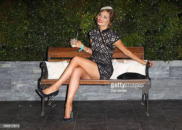 Samara Weaving attends the Emirates marquee on Derby Day at Flemington Racecourse on November 3 2012 in Melbourne Australia