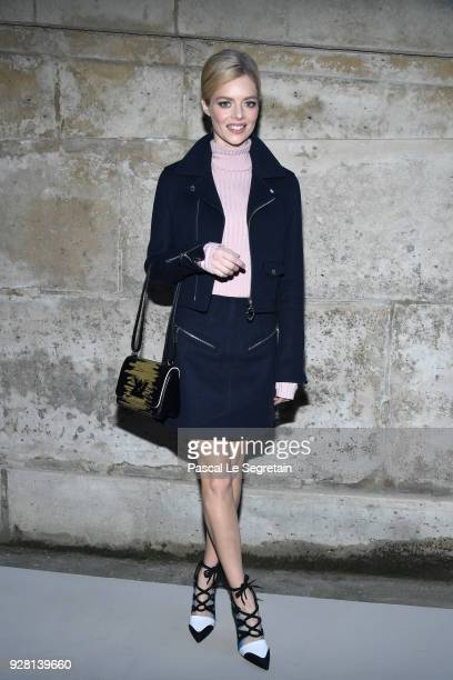 Samara Weaving attends the Louis Vuitton show as part of the Paris Fashion Week Womenswear Fall/Winter 2018/2019 on March 6 2018 in Paris France