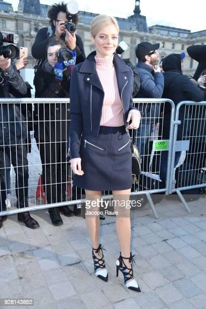 Samara Weaving attends the Louis Vuitton show as part of the Paris Fashion Week Womenswear Fall/Winter 2018/2019 on March 6 2018 in Paris France
