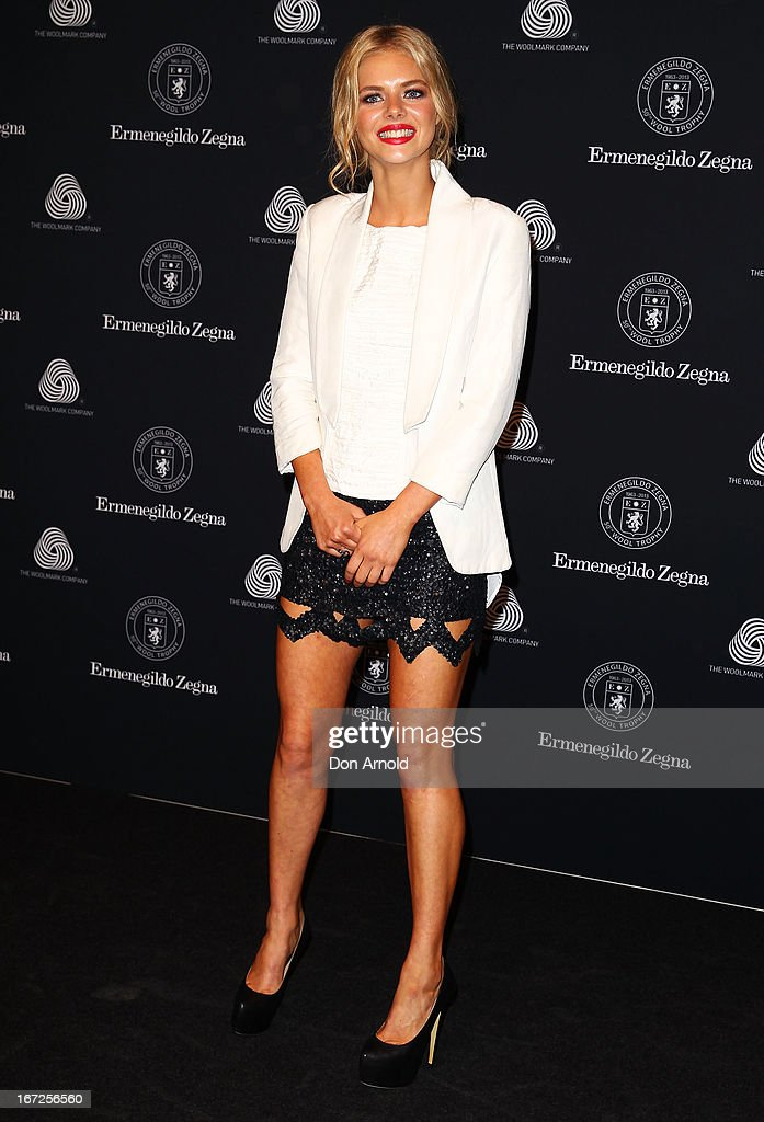 Samara Weaving poses during the 50th Anniversary Wool Awards at Royal Hall of Industries, Moore Park on April 23, 2013 in Sydney, Australia.